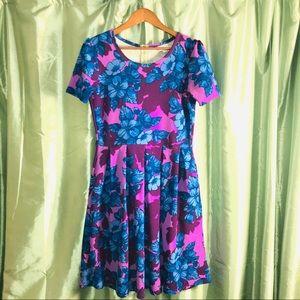 LuLaRoe Amelia Dress Sz Medium Floral Print